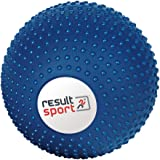 "ResultSport® EVA Deep Tissue Massage Ball with Exercise Guide - 5"" (12cm) - Blue - Yoga, Pilates"