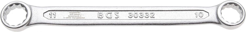 extra plana BGS 30330 Llave de estrella doble 6 x 7 mm