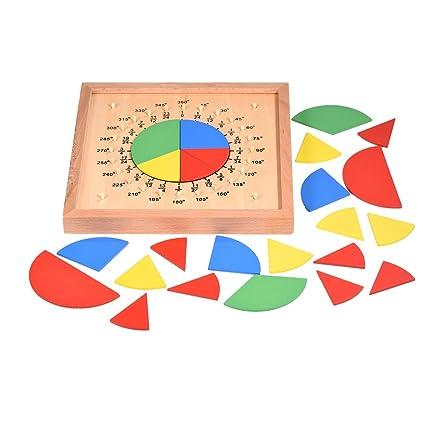 Zerodis Bebé De Madera Matemáticas Matemáticos Circulares Juguetes 8Pknw0O