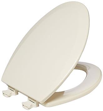 bemis toilet seat hinges. Bemis 1500EC146 Molded Wood Elongated Toilet Seat With Easy Clean and  Change Hinge Almond