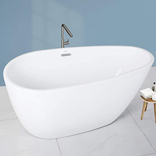 FerdY Tamago 55″ x 29.5″ Acrylic Freestanding Bathtub