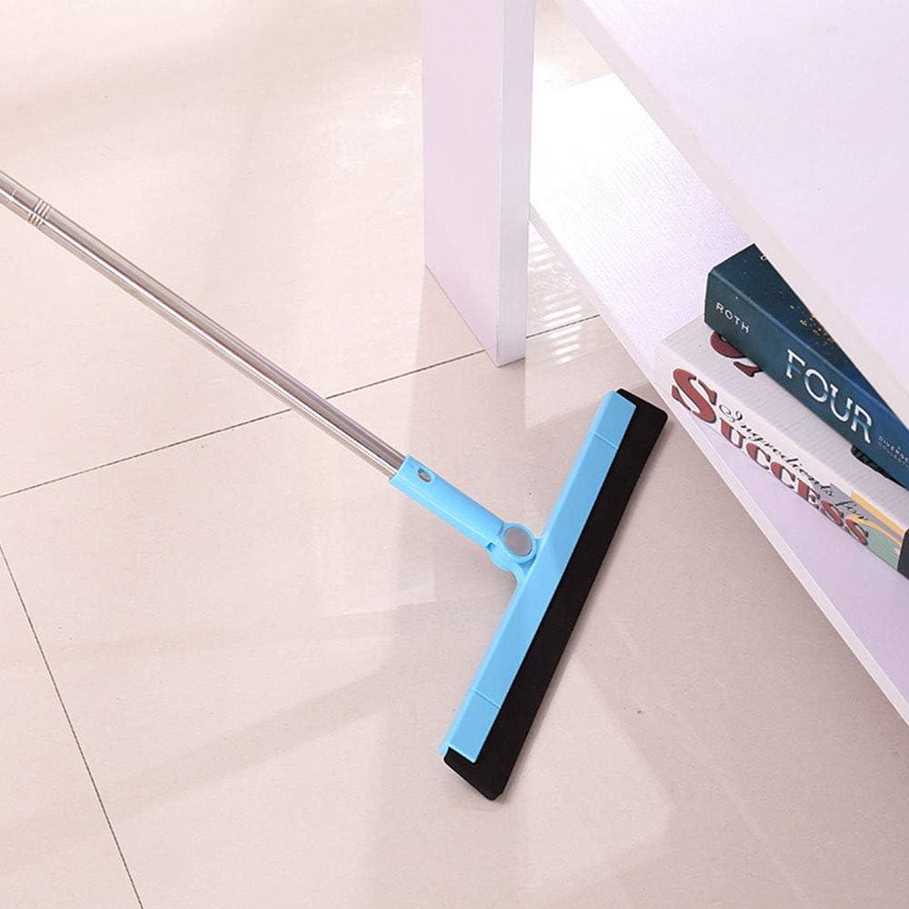 Long Handle Water Bathroom Shower Garage Scraper Wiper Clean Wet Squeegee Dustless Glass Blue