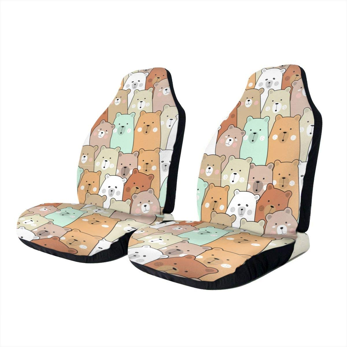Baby Bear Car Seat Covers Set of 1pc//2pc,Vehicle Seat Protector Car Mat Covers Sedan Fit Most Vehicle Cars Truck SUV