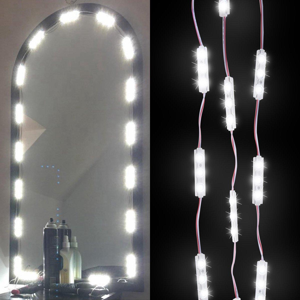 Kazoku make up vanity mirror led light 60 led bulbs 98 ft diy light kazoku make up vanity mirror led light 60 led bulbs 98 ft diy light kits cosmetic mirror with dimmer controller white mozeypictures Choice Image