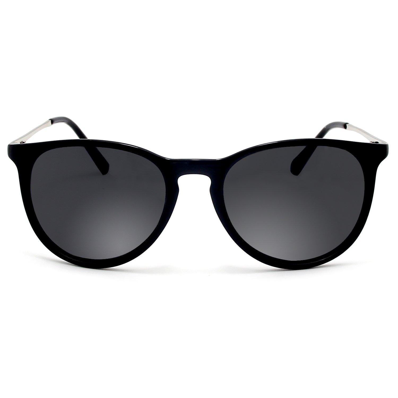 BLEVET Retro Polarisierte Sonnenbrille Herren und Damen BE001 (Blue) 4CL9j