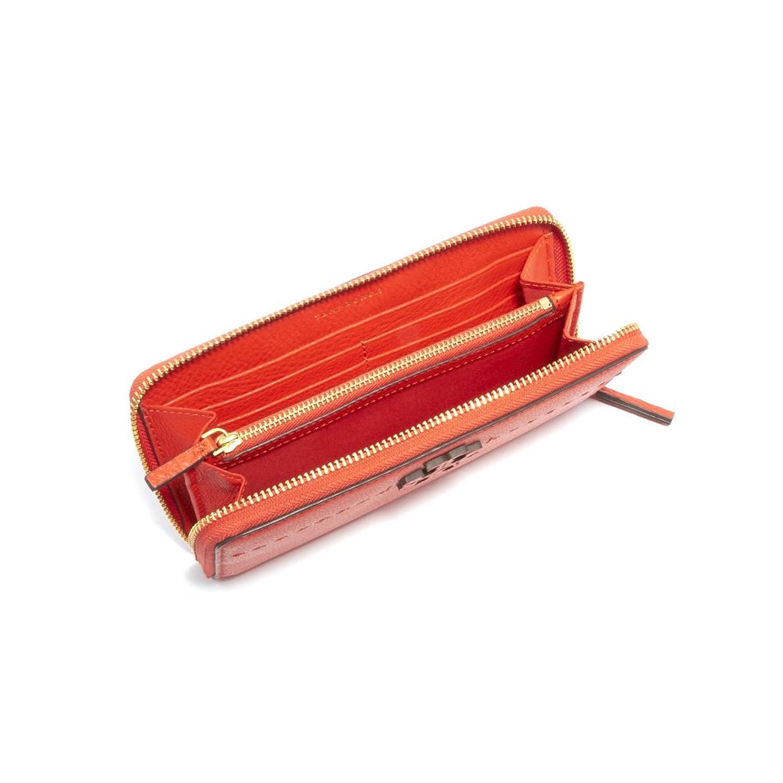 f7d195b7faf1 Amazon   (トリーバーチ) Tory Burch ラウンド長財布 41847 MCGRAW ZIP CONTINENTAL WALLET  マックグロージップコンチネンタル ウォレット レディース 614 POPPY RED ...