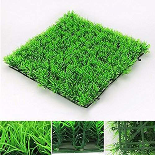 Efaster(TM) Simulation of Aquatic plantsr, Artificial Water Aquatic Green Grass Plant Lawn Aquarium Fish Tank Landscape New - Fish Breeding Supplies