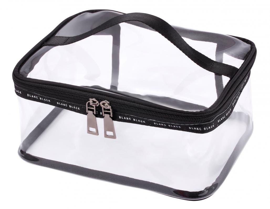 WODISON Clear Travel Cosmetic Bag Makeup Train Case Organizer with Top Handle Large