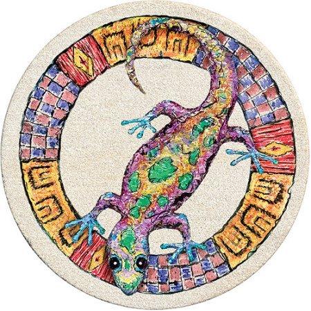 Drink Coasters Set, Whimsical Gecko - Set of 4