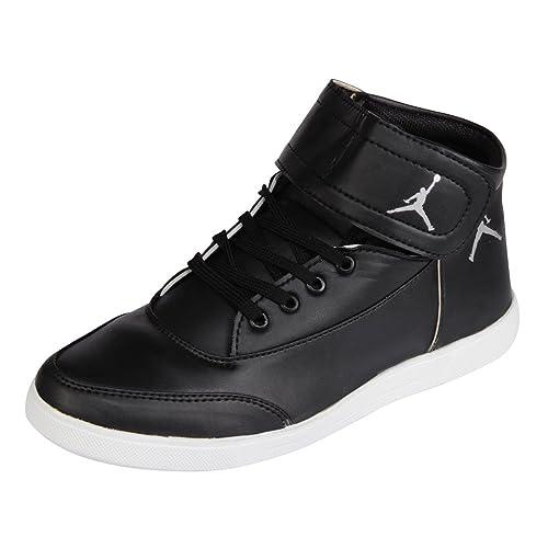 Black Canvas Jordan Shoes 9