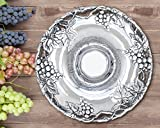 Arthur Court Grape 14-Inch Round Chip and Dip Tray