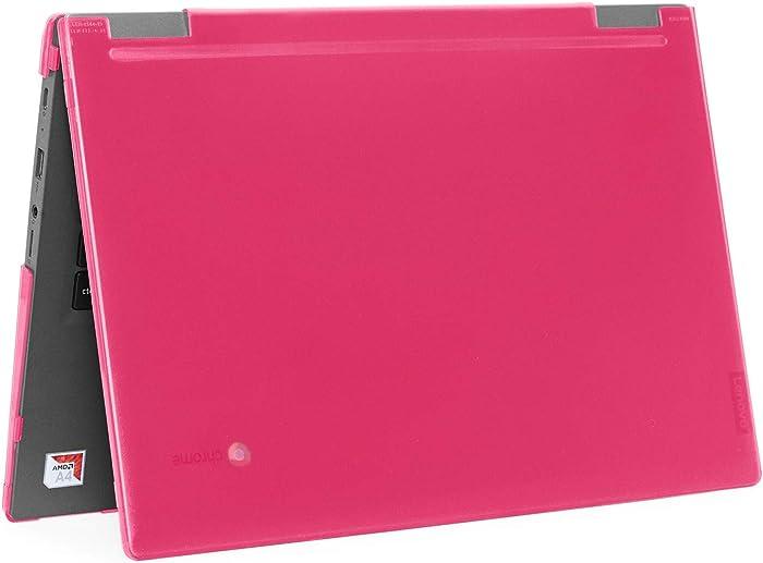 """mCover Hard Shell Case for 2019 14"""" Lenovo 14e Series Chromebook Laptop (NOT Fitting Older 14"""" Lenovo N42 / S330 and 11.6"""" N22 / N23 / N24, etc Chromebook) (LEN-C14e Pink)"""