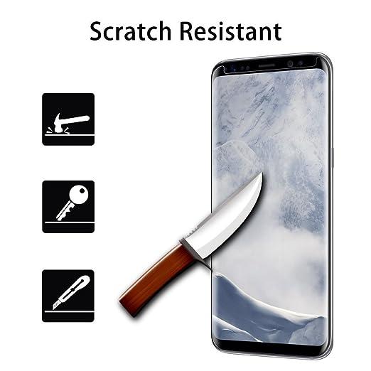 3 opinioni per Galaxy S8 pellicola protettiva, KAIHONG proteggi schermo in vetro temperato