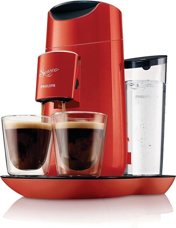 Philips HD7870/81 Senseo Twist - Cafetera de monodosis (comandos táctiles, intensidad regulable), color rojo: Amazon.es: Hogar