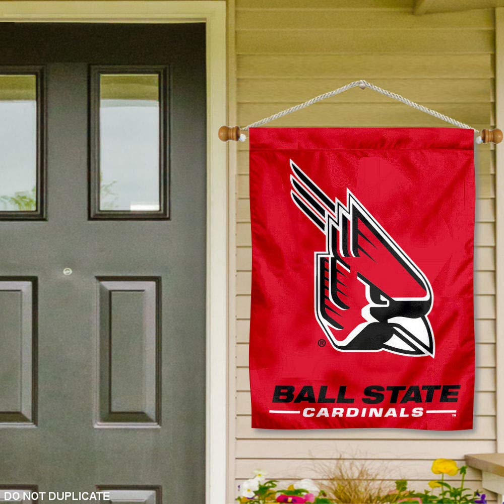 Ball State Cardinals Banner with Hanging Pole