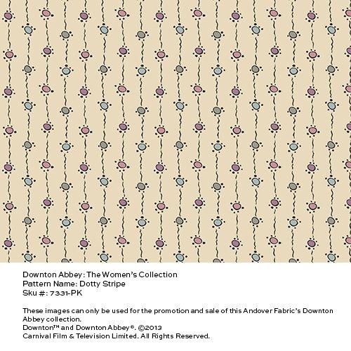 Downton Abbey Women's Collection Companion Prints Quilt Fabric Fat Quarter