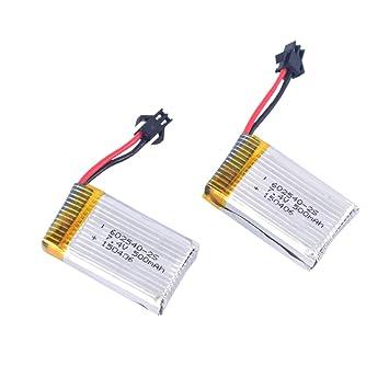 YouCute 2 pedazos 7.4V 500mAh Baterías originales para los ...