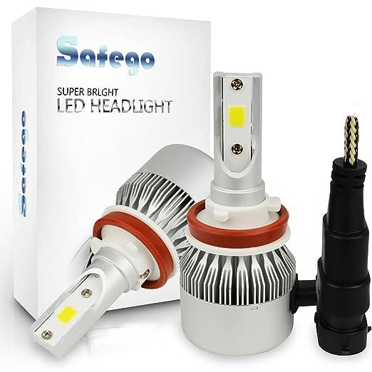158 opinioni per Safego H8 H9 H11 Faro Bulbi Auto LED Luci 72W 7200LM Super Luminosa Lampada con