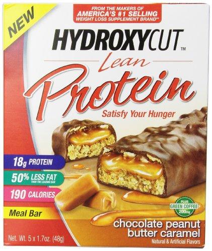 Hydroxycut barres de protéines maigres, Chocolat Caramel au beurre d'arachide, 5 compter, 1,7 oz Bars