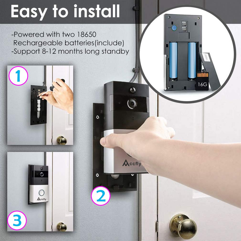 Video Doorbell Accfly 720p Hd Wifi Security Camera Mains Trigger Musical Door Bell Circuit Photo