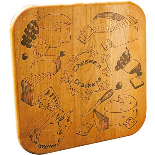 - Catskill Craftsmen Cheese N' Crackers Cutting Board with Reverse Groove