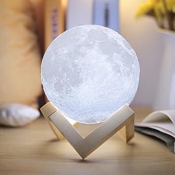 Cadeau Avec Table Lampe Led Magie Bureau 3d Usb LuneInternet Stent18cm Nuit Lumière Lune Veilleuse Moonlight PXZukOi