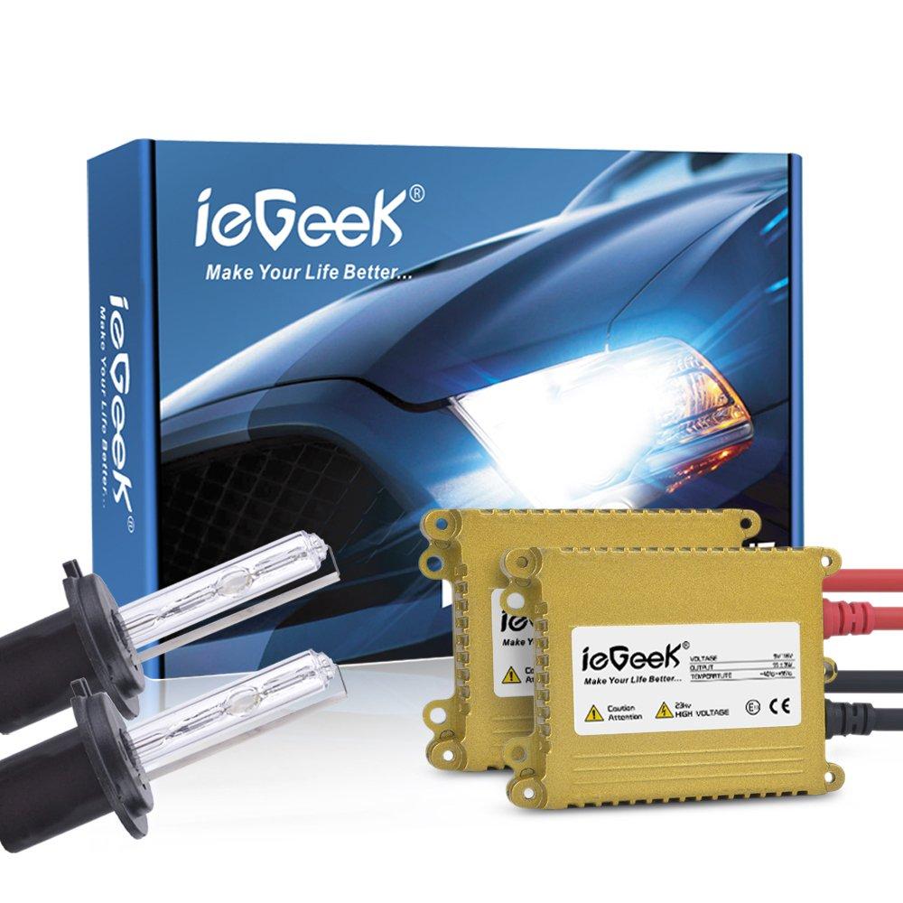 ieGeek® 2x H7 Xénon Ampoule 110W 9V-16V Kit de Conversion Blanc Lumière ieGeek®