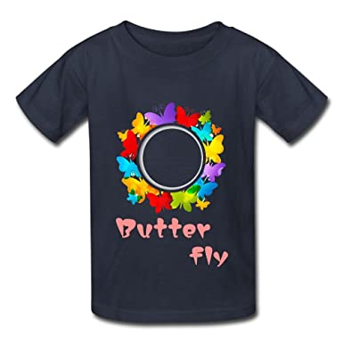 ACFUNEJRQ Rainbow Butterfly Pure Color 6-24 Months Baby Short-Sleeved T-Shirt