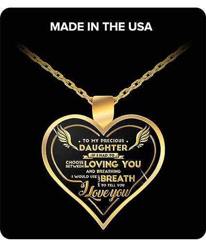 Amazon.com: Hija Regalos – A My Precious Hija de oro ...