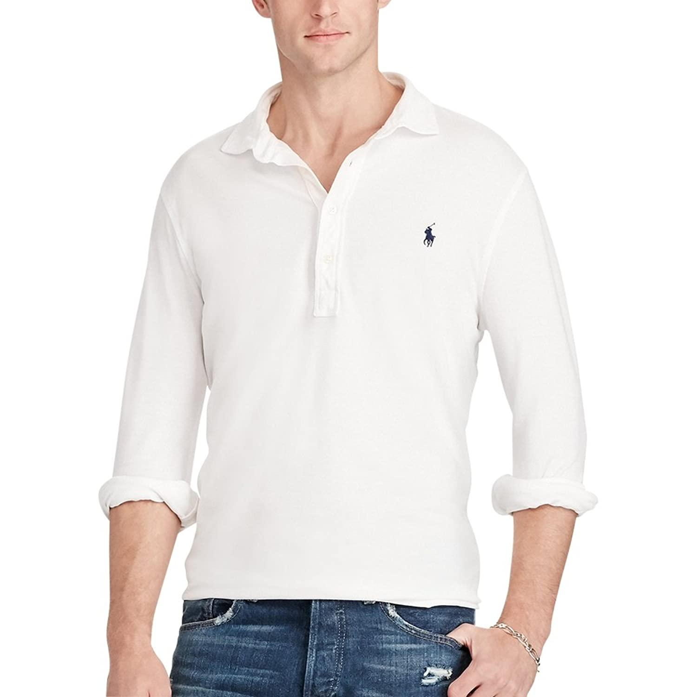63be9c2f Top2: Polo Ralph Lauren Men\'s Long Sleeve Featherweight Cotton Mesh Polo  Shirt. Wholesale ...