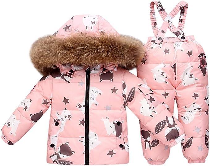 Lunga Abbigliamento Esterno LSHEL Giacca per Ragazza con Cappuccio di Pelliccia Giacca Invernale per Ragazza con Cappuccio di Pelliccia Giacca per Bambini