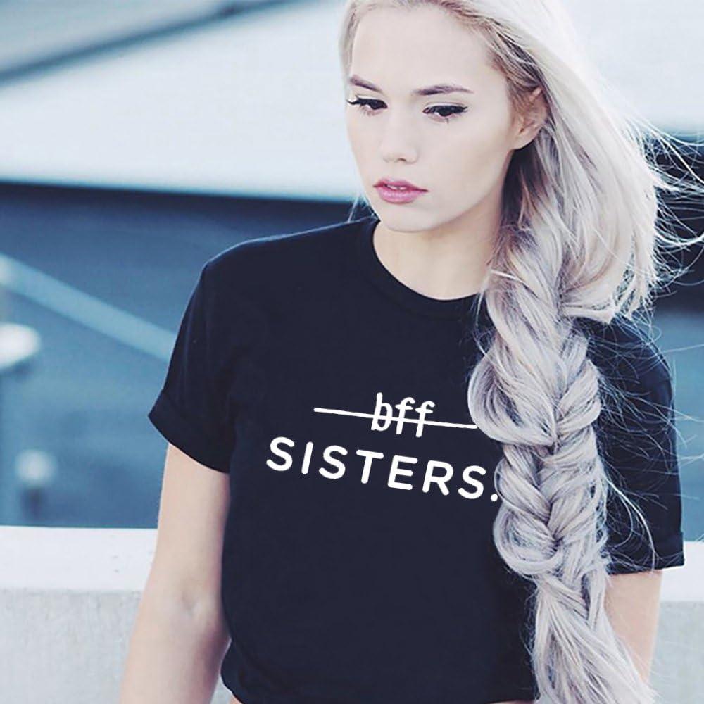 per 2 donne e ragazze maglietta Best Friends ideale come regalo per amicizia estiva JWBBU