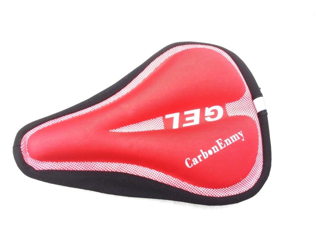 CARBONENMY Funda de sillín acolchada para bicicleta, protector, almohadilla, 28 x 18 cm, 200 g, rojo: Amazon.es: Deportes y aire libre