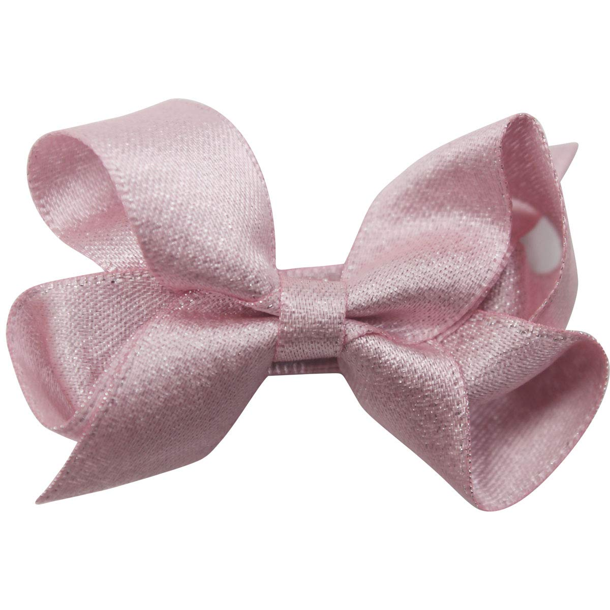DeD 40 Pieces 2 Inch Tiny Hair Bows for Girl Baby Fine Hair Glitter Grosgrain Ribbon Fully Lined Bows Clips for Toddlers Girls Newborn Infant In Pairs