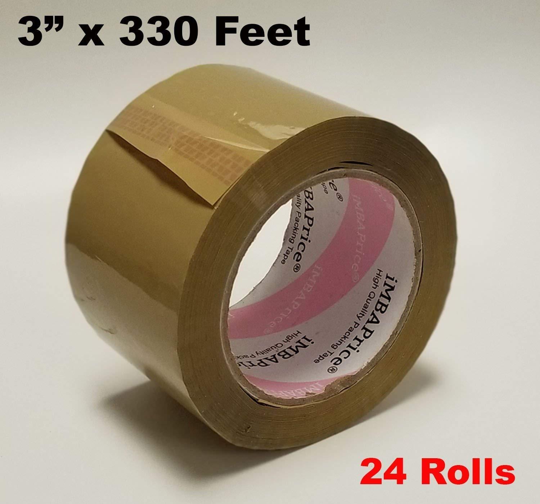 """1.8 mil Sealing Packing Tape 3/"""" 110 yards  24 Rolls Green Tan GREAT PRICE"""