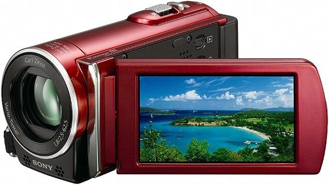 Sony Hdr Cx115er Full Hd Camcorder 2 7 Zoll Rot Kamera