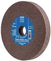 """PFERD 61742 Bench Grinding Wheel, Aluminum Oxide, 6"""" Diameter, 3/4"""" Thick, 1"""" Arbor Hole, 80 Grit, 4140 Maximum rpm"""