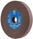 PFERD 61742 Bench Grinding Wheel, Aluminum Oxide, 6'' Diameter, 3/4'' Thick, 1'' Arbor Hole, 80 Grit, 4140 Maximum rpm