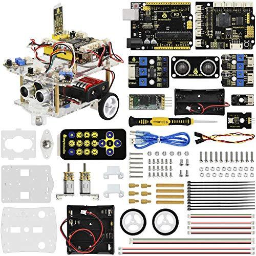 KEYESTUDIO Desktop Mini Robot Car V2.0 for Arduino Education, Electronic Coding Robotics for Kids Age 12+, Stem Education Kits for Christmas