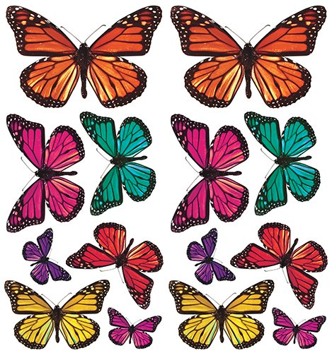 Butterfly 3-D Wall Decals, 26 Count ()