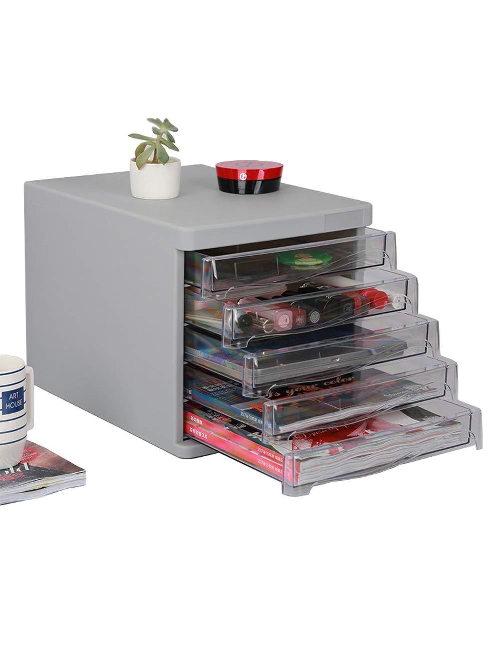 File Cabinet Drawer Mobile Multi-Function Cabinet 5 Drawers Color: Black, Gray Office Desktop File Storage Cabinet Storage Filing cabinets (Color : A)