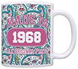 50th Birthday Gift Made 1968 Paisley Birthday Mug Review and Comparison