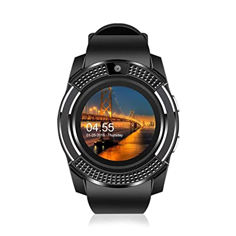 Teepao Smart Watch con cámara, V8 Smart Watch Bluetooth con ...