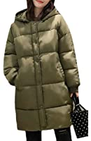 Fulok Womens Winter Hooded Quilted Warm Puffer Outwear Parka Coat