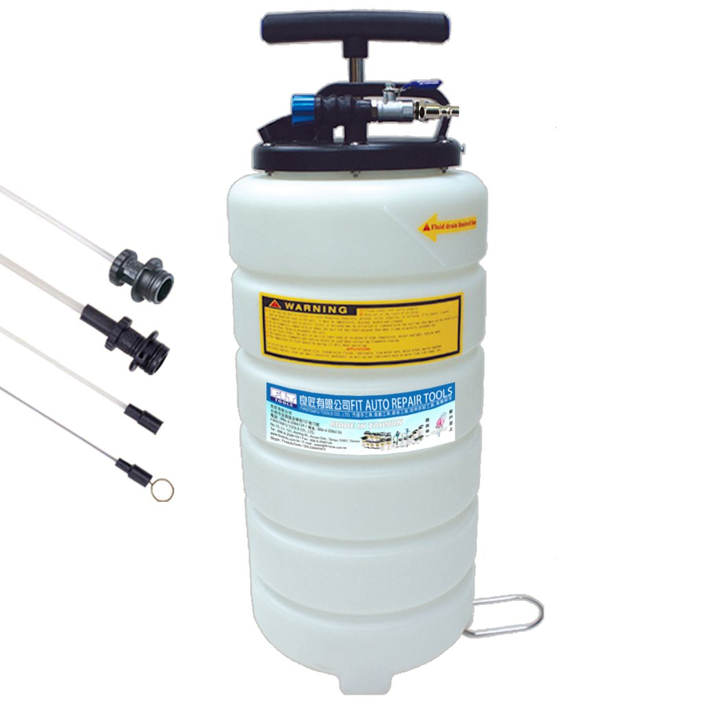 FIT TOOLS 15L Pneumatic and Manual Operation Oil or Fluid Extractor FIRSTINFO TOOLS Co. Ltd. A1106US
