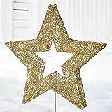 BrylaneHome Pre-Lit Shimmer Gold Star (Gold,0)