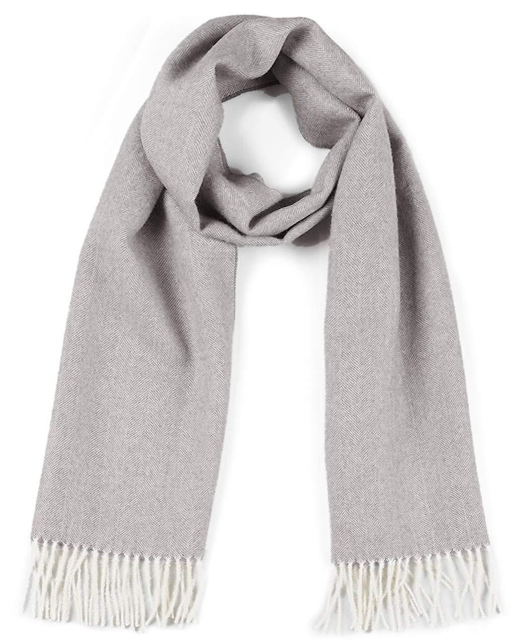 Herringbone Alpaca Scarf - 100% Baby Alpaca (Dove Gray Herringbone) by Incredible Natural Creations from Alpaca - INCA Brands (Image #1)