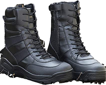 Black Tactical Boots Military Hiking