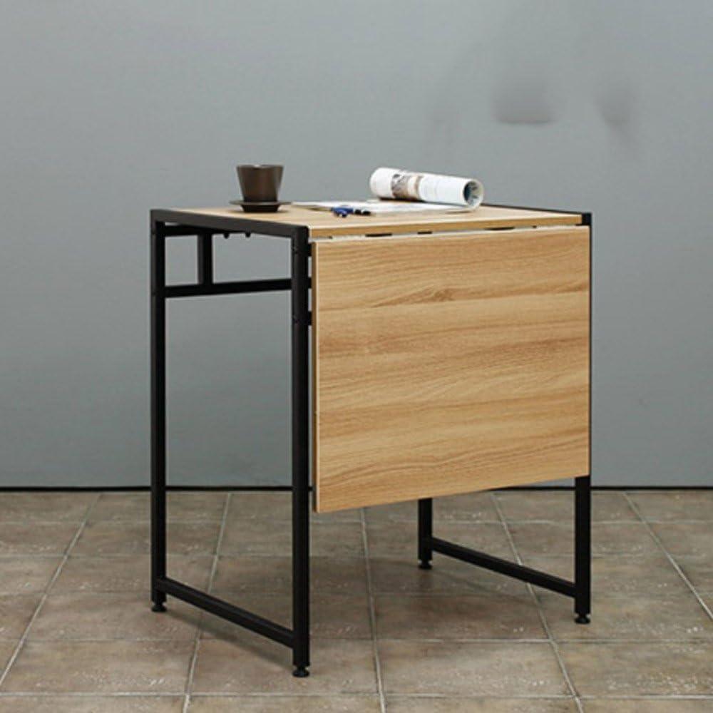 XIA Mesa de Comedor Individual portátil para Dos mesas Plegables Mesa de Comedor Moderna de Madera y Acero telescópica Mesa de Comedor de Madera Ajustable Simple Mesa de Aprendizaje para el hogar: