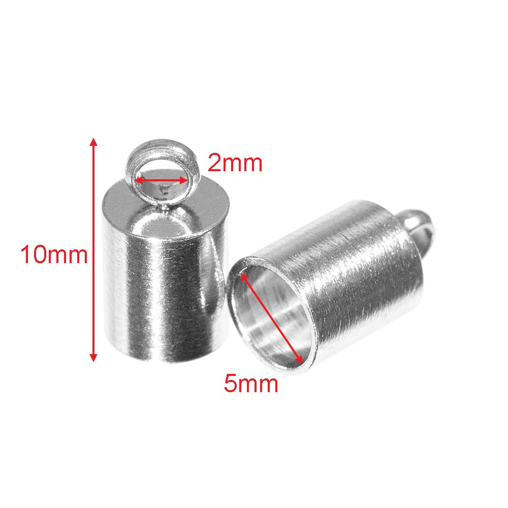 10mm 50 or 100 Packs Bronze or Silver 2 8mm 5mm 10 25 7mm 3mm 9mm 5 12mm or 13mm 6mm Craft County Cord End Caps